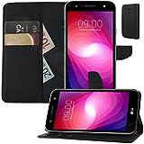 Buch Klapp Tasche Schutz Hülle Wallet Flip Case Cover Etui für LG X Power 2
