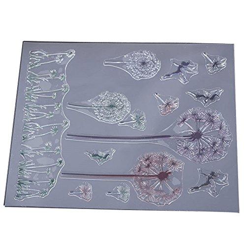 Chen Rui TM Löwenzahn Muster DIY Transparent Stempel Siegel DIY Handwerk Scrapbooking Decor