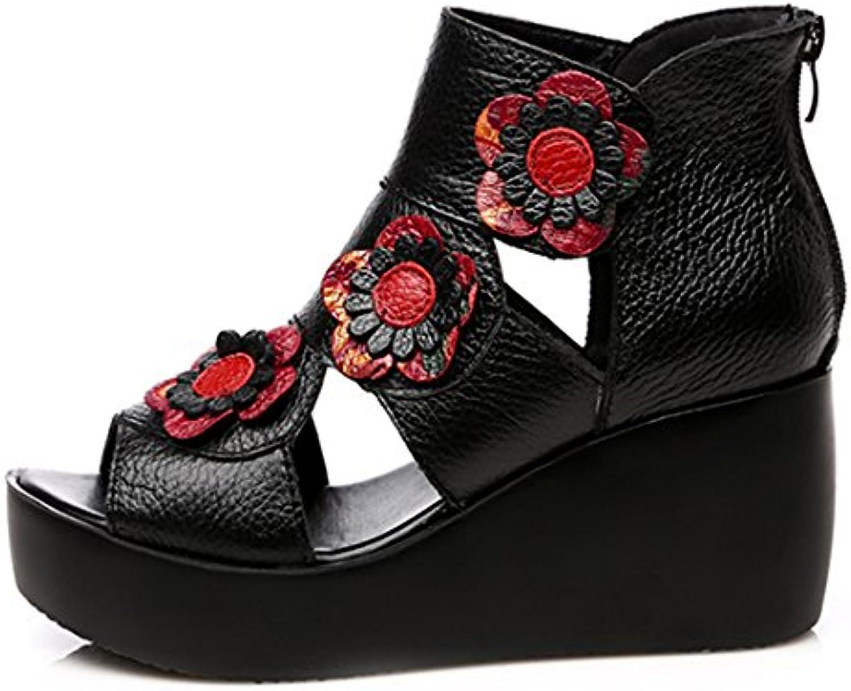684a0191022 Women s Casual Comfort Real Leather Wedged Sandals Sandals Sandals Ladies  Summer Shoes B07CVV64S8 Parent 1fc9d6