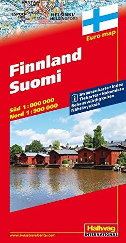 Finlandia-Finnland-Suomi 1:800.000 1:900.000: With Touring Information (Carte stradali d'Europa) por Rand McNally