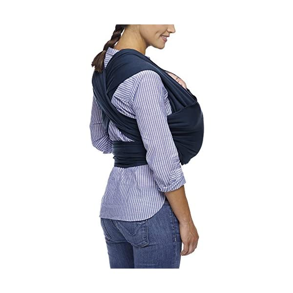 MOBY Classic Baby Wrap Carrier for Newborn to Toddler up to 33lbs, Baby Sling from Birth, One Size Fits All, Breathable Stretchy made from 100% Cotton, Unisex Moby One size fits all Encourages parent/child bonding Ideal for all climates and seasons 4