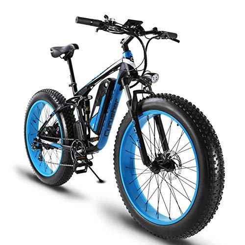 ZDDOZXC XF800 26 pulgadas neumático gordo Bicicleta eléctrica 1000W 48V Nieve E-Bike Shimano 7 Velocidades Beach Cruiser Hombre Mujeres Montaña...