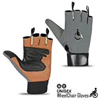 wheels chair disability mobility leather gloves