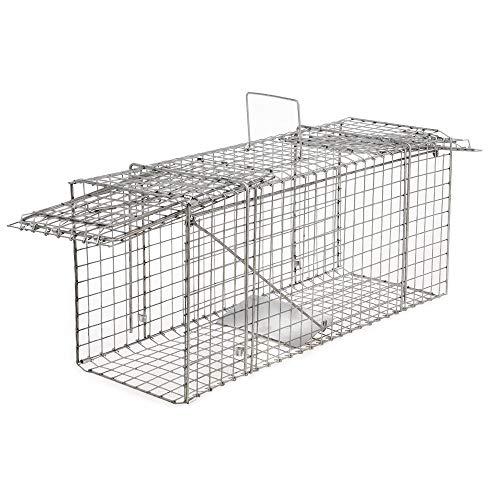 OSE Cage à nuisibles Double entrée Grand modèle Gris 66 cm