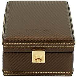 friedrich|23 Unisex Watch Box For 4 Watches Fine Synthetic Carbon Effect Brown 32049 8