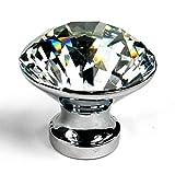WINGONEER 10pcs/lot 25mm claro de cristal de vidrio del gabinete de cocina pomos y tiradores armario aparador perilla de la puerta tira de hardware