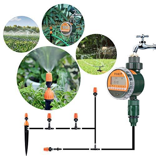 FIXKIT Programmateur d'Arrosage Automatique Minuterie, Nouvelle Version Minuterie d'arrosage,Affichage étanche LED, Arrosage Automatique pour L'usine de Jardinage,le jardin potager,le balcon