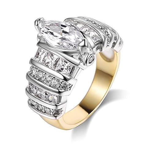 Brillaint Cz Stapelbare Ringe Gloden Band Ring 7