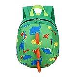 DafenQ 3D Carina Dinosauro Zaino per bambini Zaino Kindergarten Sveglio Zaini per Infanzia Ragazze Ragazzi (Verde)