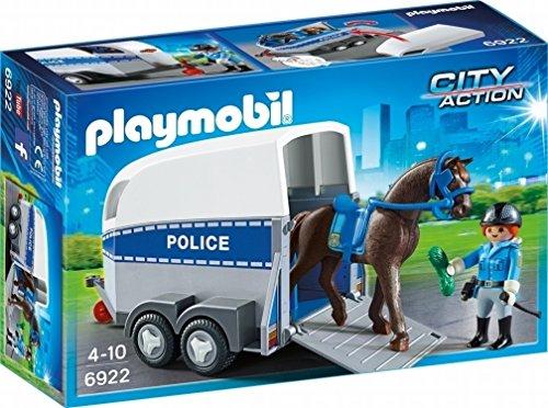 PLAYMOBIL 6922City Action Police mit Pferd und Trailer