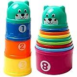 Ogquaton Tasse empilée pour bébés de qualité supérieure créative forme d'ours créatif bébé Puzzle d'apprentissage précoce Jou