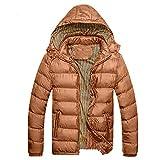 Bealeuy Herren Winterjacke Herrenjacke Jacke Steppjacke Mit Kapuze Herren Wintermütze Abnehmbare Baumwolle Jacke Verdickung Warm Cotton Padded Coat