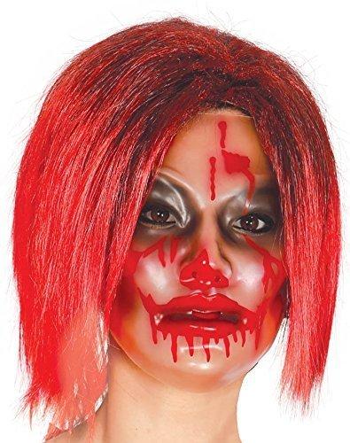 Erwachsene Durchsichtig Blutig Horror Zombie Halloween Maske Kostüm Kleid Kostüm Outfit Accessoire - Damen