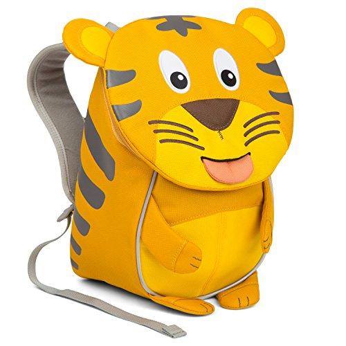 Affenzahn Kinder-Rucksack mit Brustgurt für 1-3 jährige Jungen und Mädchen im Kindergarten oder Kita der kleine Freund Timmy Tiger - Gelb