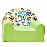 scalesport Z5 Kindersessel Sessel Kinderstuhl Kindersofa Relaxsessel weich gemütlich (Z5 grün Tiere)