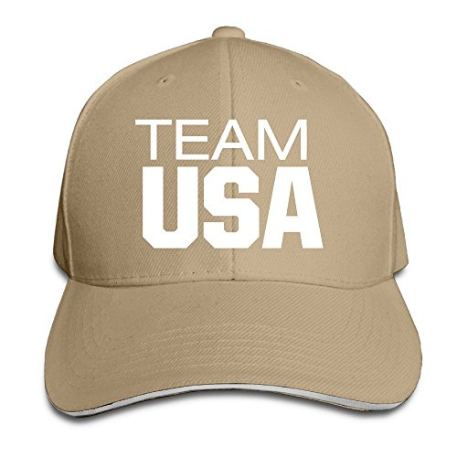 Maneg 2016 USA Team Sandwich Peaked Hat & Cap, unisex, natur