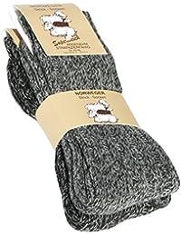 Lot de 2 paires de chaussettes norvégiennes (Chaussettes de laine), tricoter des chaussettes. Pour les hommes et les femmes.