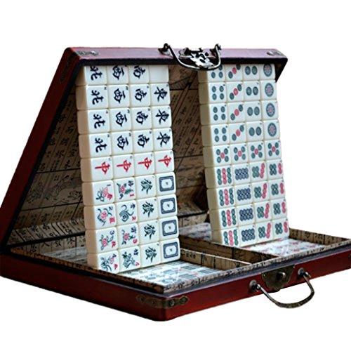 LI JING SHOP - Haus Hand Reiben Großer Mahjong Reise Portable Mahjong Größe: 3.5 * 2.7 * 1.9CM (einzeln)