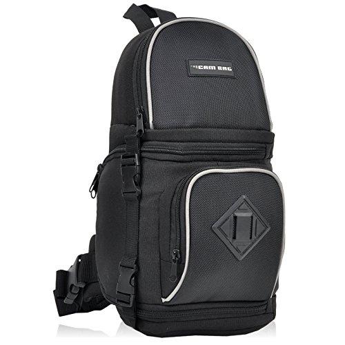 Kamerarucksack CAMBAG Fotorucksack D-SLR Laptop Rucksack Kameratasche Schwarz - Auswahl (Oxford - Sling Backpack Small)