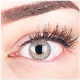 """Sehr stark deckende und natürliche graue Kontaktlinsen SILIKON COMFORT NEUHEIT farbig """"Rose Gray"""" + Behälter von GLAMLENS - 1 Paar (2 Stück) - DIA 14.00 - mit Stärke -1.50 Dioptrien"""