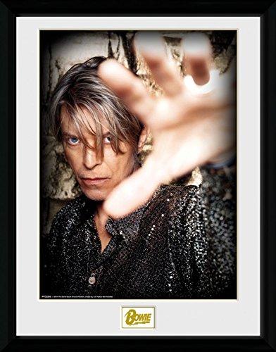 1art1 100173 David Bowie - Hand Gerahmtes Poster Für Fans und Sammler 40 x 30 cm