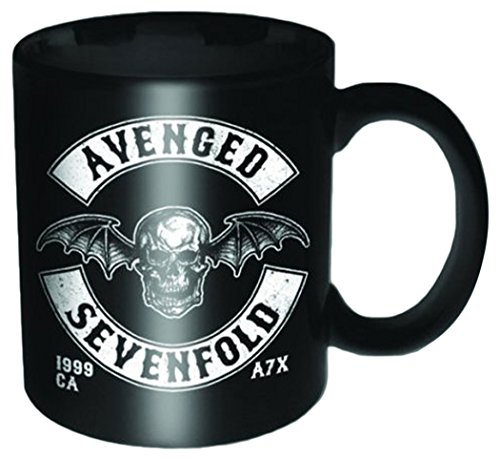 Empire Merchandising 688453 Avenged Sevenfold - Death Bat Crest Tazza in ceramica, diametro 8,5 cm, altezza 9,5 cm