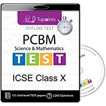ICSE Class 10 Test sereis/Mock Test Combo Pack PCBM(Physics,Chemistry,Biology,Maths) 2018-2019 CD/DVD