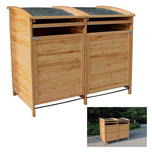 MTB Mülltonnenbox Holzverkleidung mit Deckel Türe 240 L. Gartenbox erweiterbar (Erweiterung) - 3