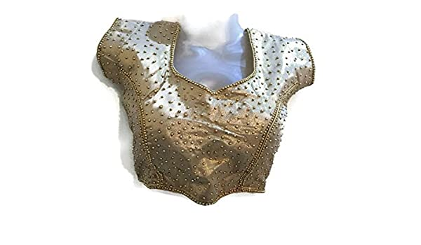 Beads collar colorful neckline metal neckline applique blouse
