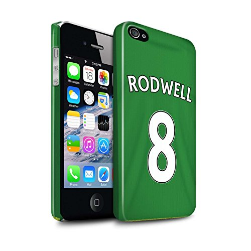 Offiziell Sunderland AFC Hülle / Glanz Snap-On Case für Apple iPhone 4/4S / Pack 24pcs Muster / SAFC Trikot Away 15/16 Kollektion Rodwell