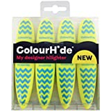 ColourHide My Designer Highlighter - Pack of 4 (Yellow)