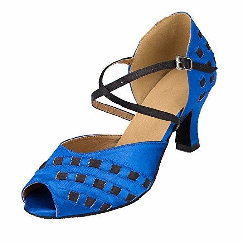 TDA - Peep-Toe donna 6cm Heel Blue