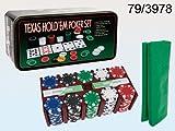 Carte Oob-Poker 2mazzi+200 Fiches+Tappeto in Scat.Metallica