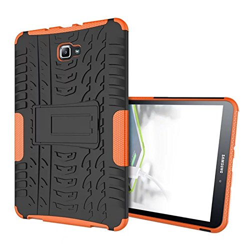 Skytar Samsung Galaxy Tab A6 10.1 Hülle - TPU Silikon + Hart PC Back Cover Case mit kickstand Schutzhülle für Samsung Galaxy Tab A 10,1 Zoll SM-T580N/SM-T585N 2016 Release Tablet,Orange