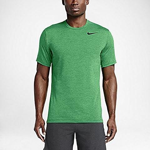 Nike Dri-Fit Training SS Herren-T-Shirt L Verde / Negro (Spring Leaf/Black)