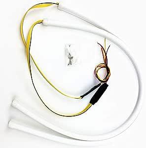 2 Stücke 24 Zoll Tagfahrlicht Flexible Dual Farbe Weiß Sequenz Bernstein Led Streifen Lichter Drl Switchback Scheinwerfer Blinker Tube Fit Für 12v Küche Haushalt