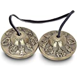 'ZAP Impex® Tingsha campana meditación tibetana 2.18suerte símbolos Precipitados