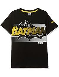 Puma Camiseta Justice League Infantil, Infantil, 850267 01, Cotton Black, 152