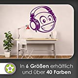 KIWISTAR Emoji 3D Kopfhörer - Bass R&B HipHop EDM Pop Rock Laut Wandtattoo in 6 Größen - Wandaufkleber Wall Sticker