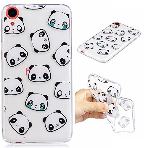 Desire 820 Hülle, HTC Desire 820 Hülle, Anlike HTC Desire 820 Handy Hülle Schutzhülle Handytasche Cover Case Weiche TPU Silikon Schlank Flexibel Handy Tasche - Kleiner Panda Htc Panda