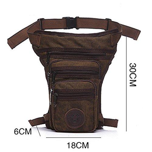 Outreo Hüfttaschen Vintage Sporttasche Herren Gürteltasche Kleine Bauchtasche Reisetaschen Outdoor Tasche Sport Bag Geldbeutel Trinkgürtel Canvas Braun
