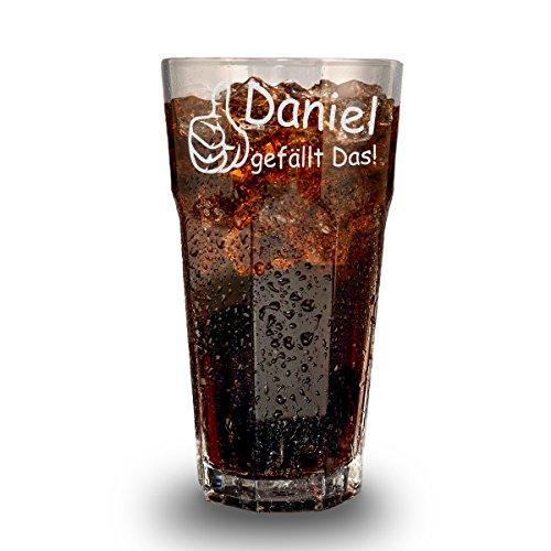 Longdrinkglas mit Gravur - Cocktail-Glas 480 ml - Barglas personalisiert mit Namen - Geschenk-Idee zum Geburtstag - Motiv Mir gefällt das! Chef-cocktail