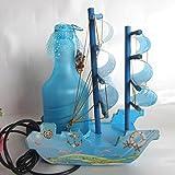 SQDTNSLT-Kreative Malerei Segelboot Lampe plug in der Nacht Licht ein Geburtstagsgeschenk von Wohnaccessoires & Deko Tischleuchte