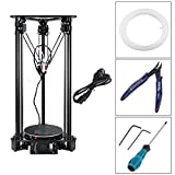 3D-Drucker, Hehilark EZT T1 3D Printer High Speed Lcd Screen DIY Kit For Kossel Linear Delta Large Printing Size Easy To Assemble EU Plug