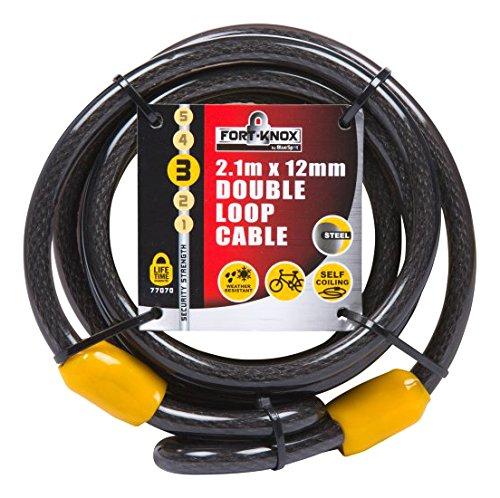 Fort Knox 770702.1M x 12mm Double Loop-Kabel-Schwarz -