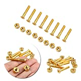 Beautyrain 8pcs / lot Hardware Schrauben 29mm Goldmedaille Skateboard Longboard Bearing Schrauben Kit Sport tools