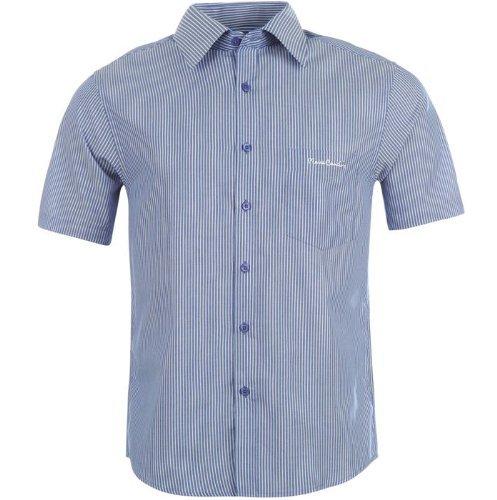 pierre-cardin-chemisette-loisirs-pour-homme-polyester-l-bleu