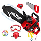 Kids Tool Toy Chainsaw Play Set, Boys Pretend Play Outdoor Lawn Tool Toy Chainsaw Set for Toddlers