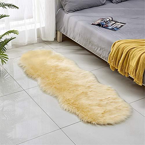 DHHY Plüsch Teppich Hause Wohnzimmer Dekoration Schlafzimmer Erker Tür Matte Q 60X90 cm