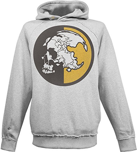 Musterbrand Metal Gear Solid Hoodie Men MSF Instructor Skull Sweater Sweatshirt Grey